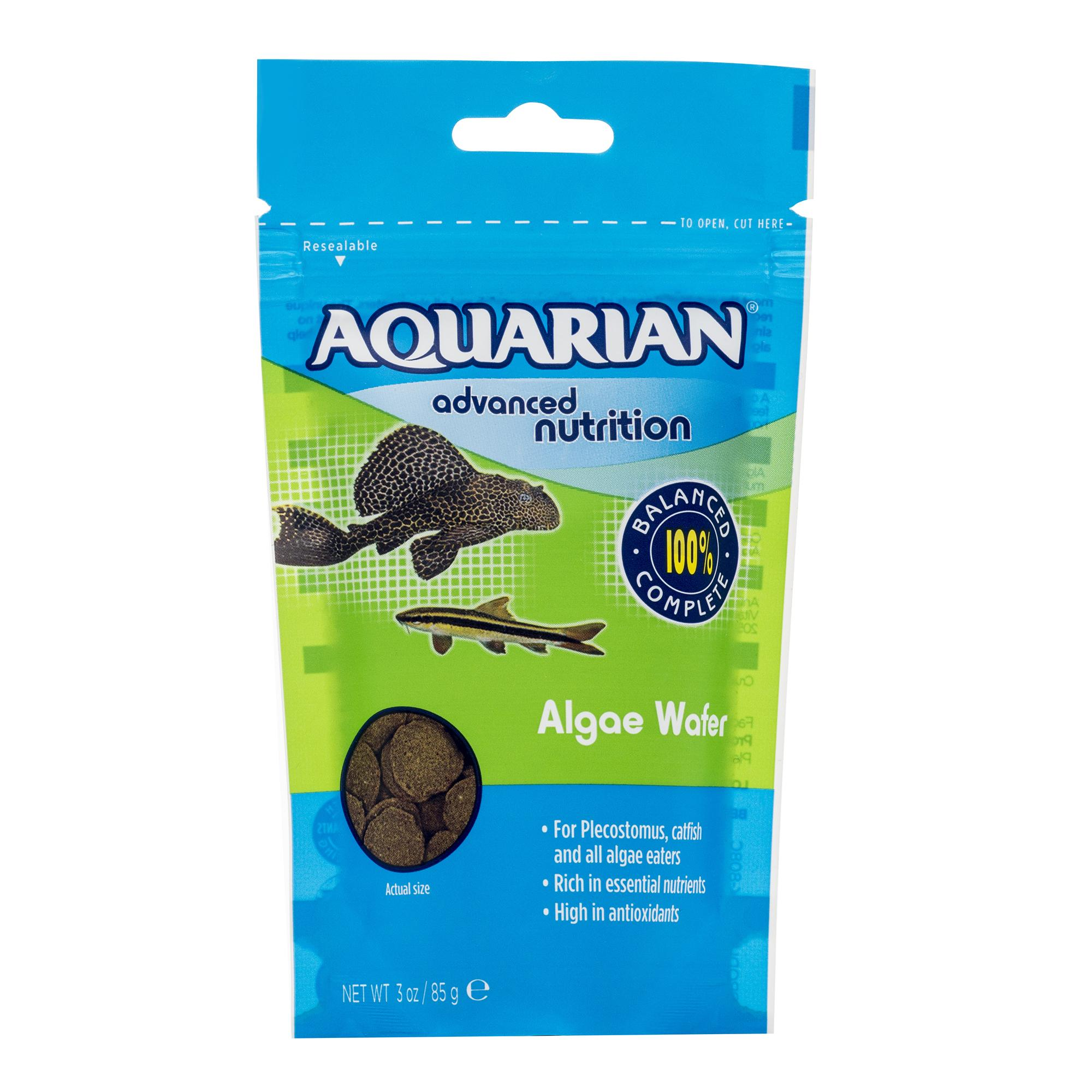 A package of AQUARIAN Algae Wafers