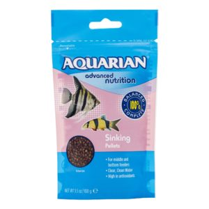 A package of AQUARIAN Sinking Pellets